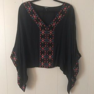Boho embroidered blouse